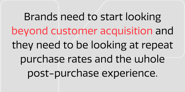 Beyond customer acquisition
