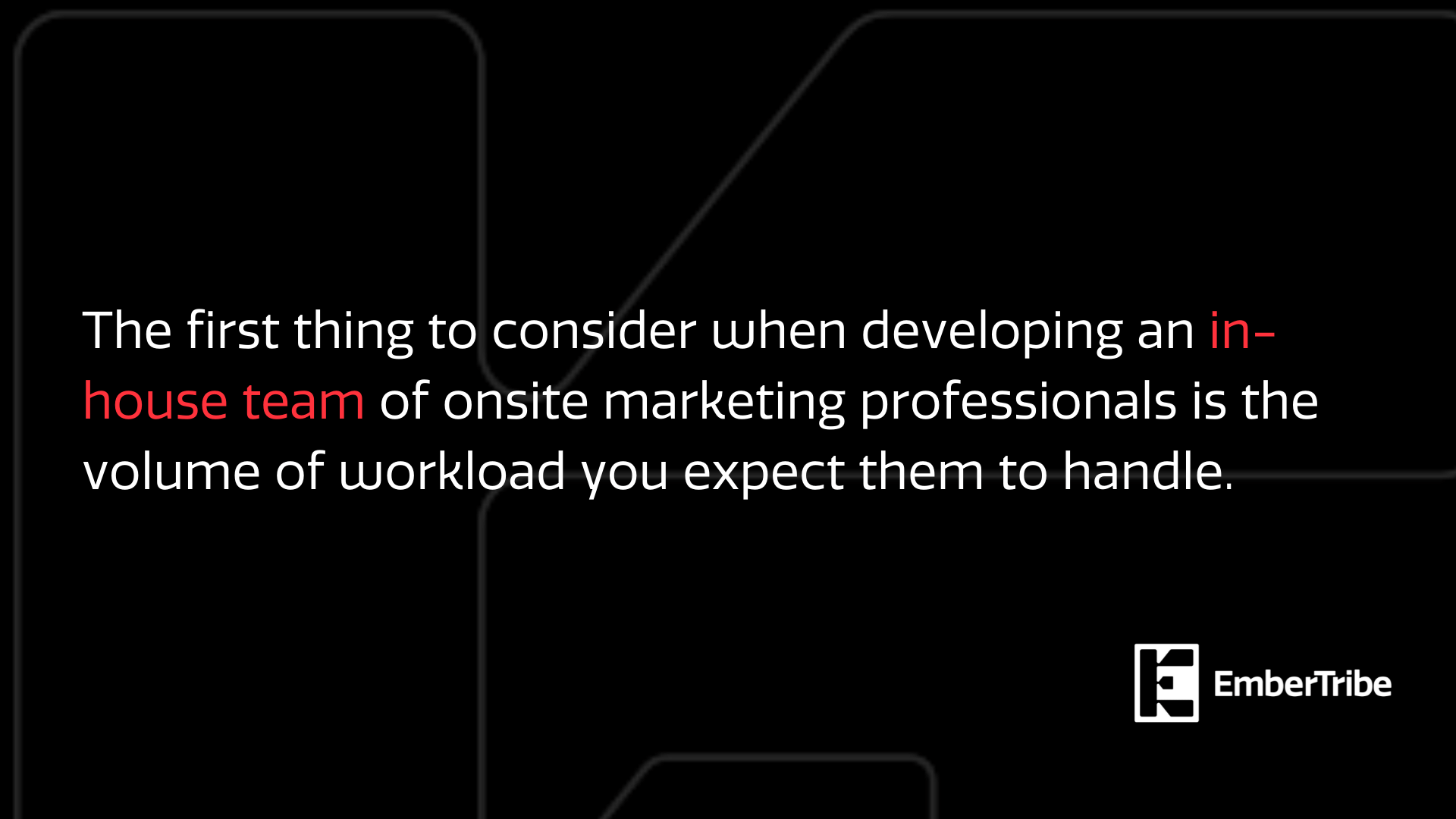 In-house marketing teams