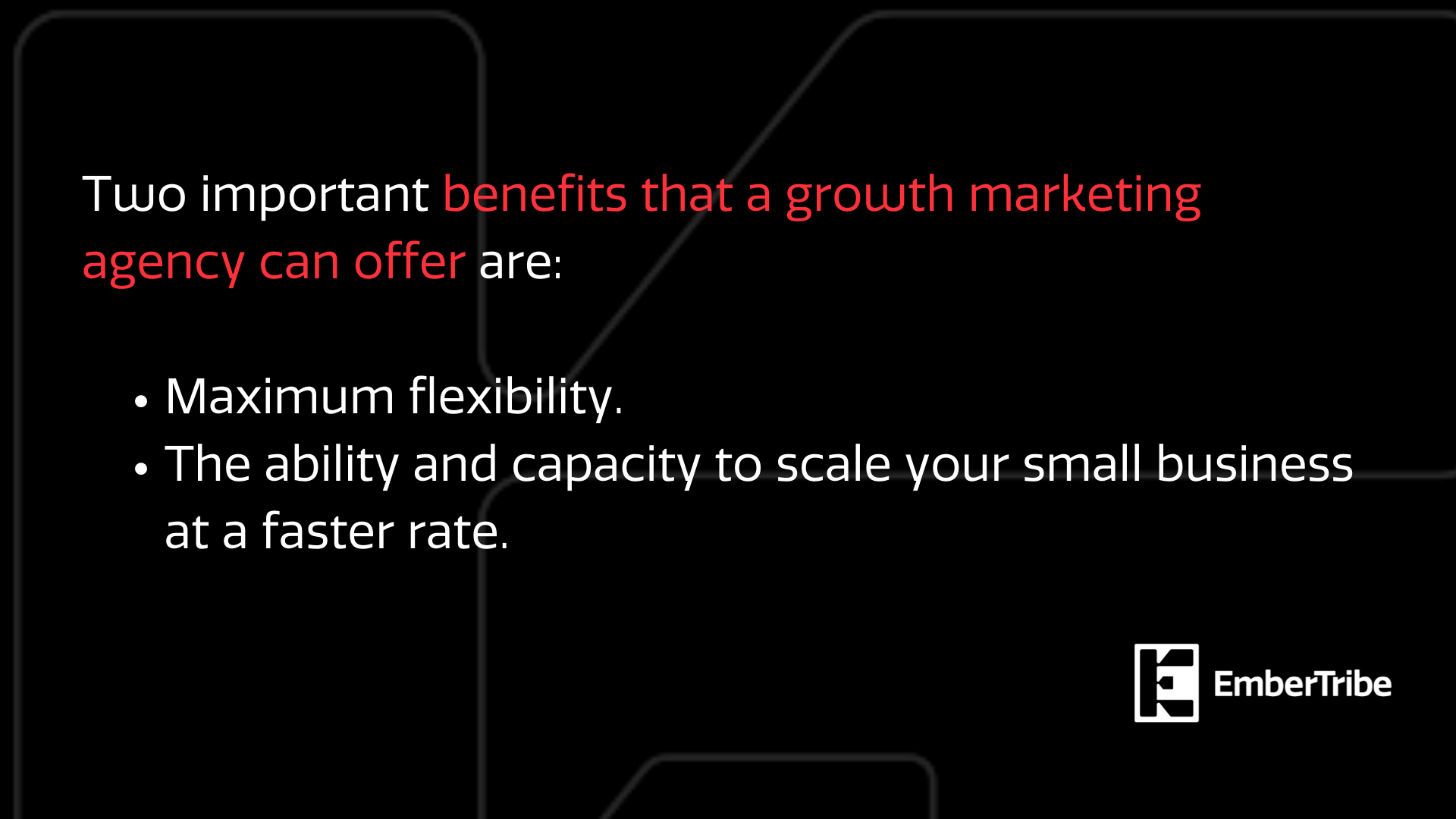 What growth marketing agencies can offer
