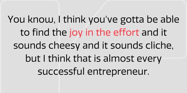 Find joy in the effort