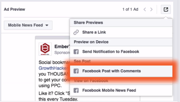 Re-using Ads in Facebook with Great Social Proof