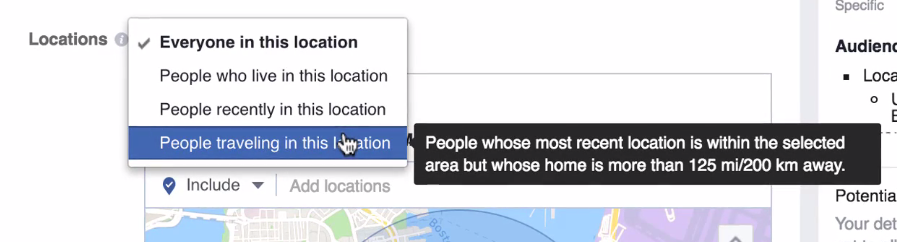 People traveling in this location