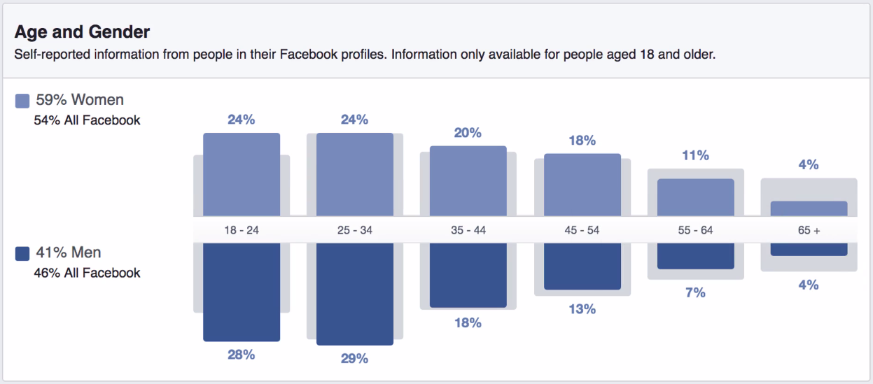 Age Group in Audience Insights on Facebook