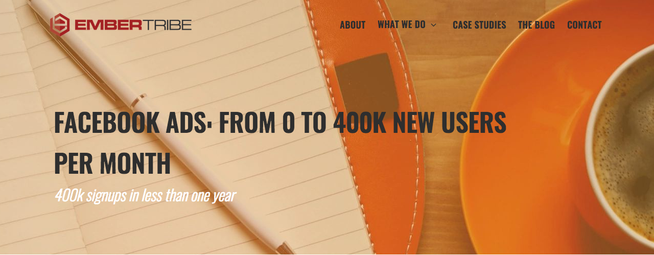 Case Study: Facebook Ads - from 0 to 400k new users per month