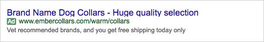 Adwords Ad Example