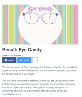 zennie share quiz results