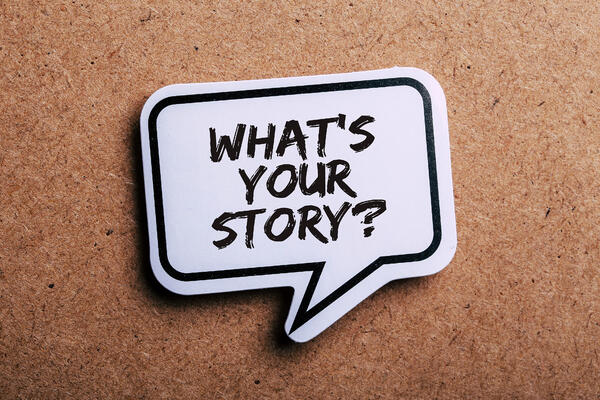 What's your story sticker on corkboard