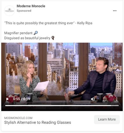 Kelly Ripa Moderne Monocle ad